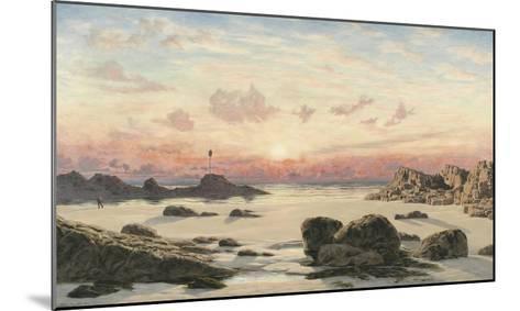 Bude Sands at Sunset, 1874-John Brett-Mounted Giclee Print