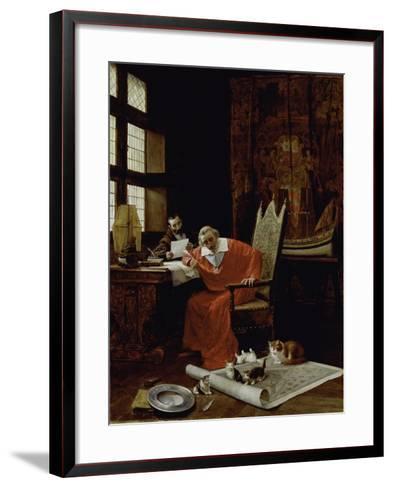 The Cardinal's Leisure-Charles Edouard Delort-Framed Art Print