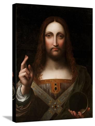 Cristo Salvator Mundi (Oil on Wood Panel)-Giovanni Pedrini Giampietrino-Stretched Canvas Print