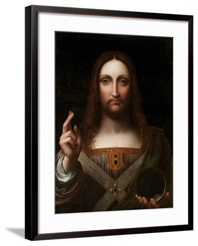 Cristo Salvator Mundi (Oil on Wood Panel)-Giovanni Pedrini Giampietrino-Framed Art Print