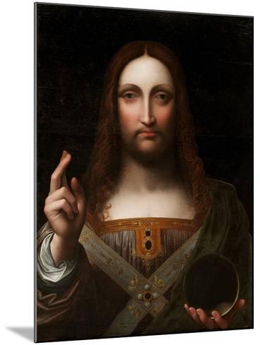 Cristo Salvator Mundi (Oil on Wood Panel)-Giovanni Pedrini Giampietrino-Mounted Giclee Print