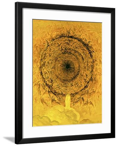 The Vision of the Empyrean, Illustration from 'The Dore Gallery'-Gustave Dor?-Framed Art Print