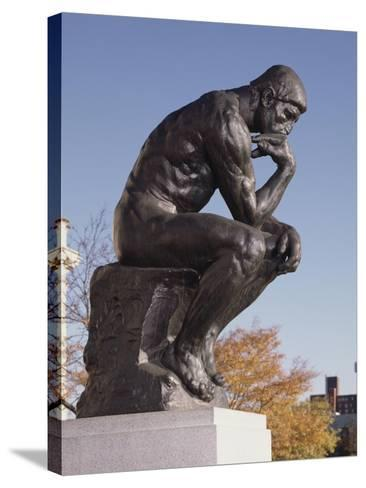 The Thinker, 1904 (Bronze)-Auguste Rodin-Stretched Canvas Print