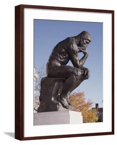 The Thinker, 1904 (Bronze)-Auguste Rodin-Framed Art Print