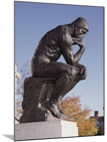 The Thinker, 1904 (Bronze)-Auguste Rodin-Mounted Giclee Print
