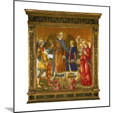 Tobias and Three Archangels, 1471 (Tempera, Oil, Gold and Silver on Panel)-Neri Di Bicci-Mounted Giclee Print