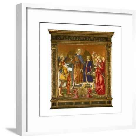 Tobias and Three Archangels, 1471 (Tempera, Oil, Gold and Silver on Panel)-Neri Di Bicci-Framed Art Print