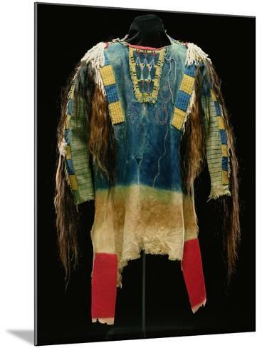 Man's Shirt, Cheyenne, C.1860 (Buckskin, Wool, Ermine Skin and Human Hair)-American-Mounted Giclee Print