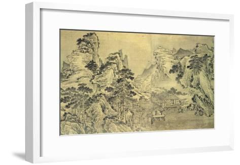 View from the Keyin Pavilion on Paradise (Baojie) Mountain, 1562 (Ink on Silk)-Wang Wen-Framed Art Print
