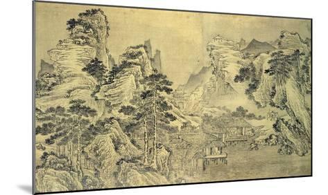 View from the Keyin Pavilion on Paradise (Baojie) Mountain, 1562 (Ink on Silk)-Wang Wen-Mounted Giclee Print