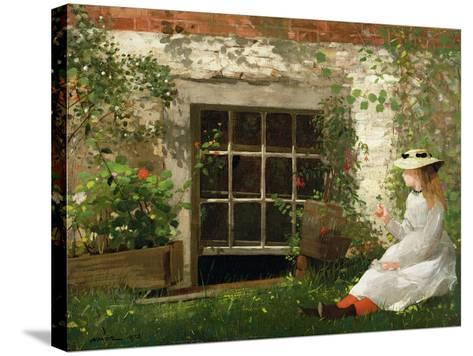 The Four Leaf Clover, 1873-Winslow Homer-Stretched Canvas Print