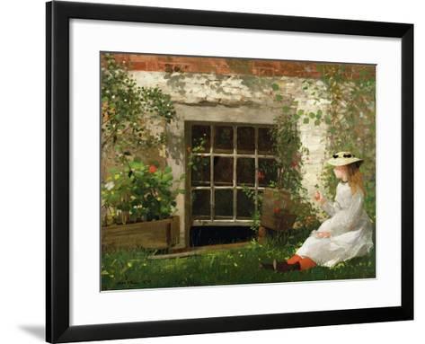 The Four Leaf Clover, 1873-Winslow Homer-Framed Art Print