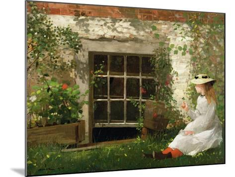 The Four Leaf Clover, 1873-Winslow Homer-Mounted Giclee Print