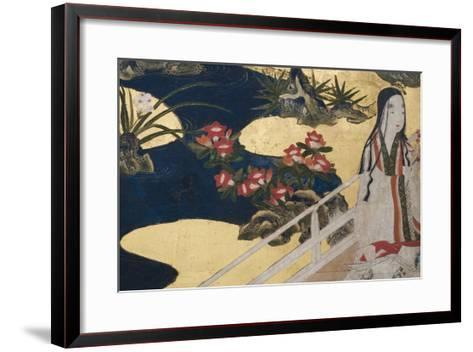 Detail of Spring in the Palace, Six-Fold Screen from 'The Tale of Genji', C.1650-Japanese-Framed Art Print