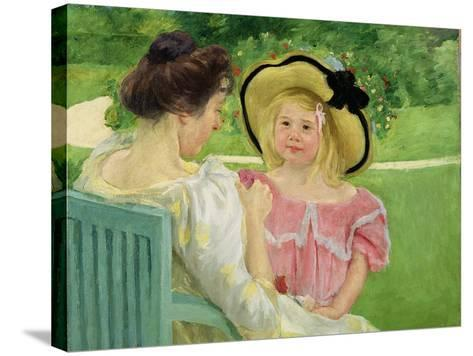 In the Garden, 1903/04-Mary Cassatt-Stretched Canvas Print