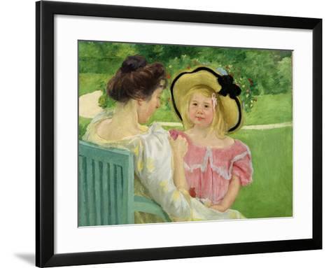 In the Garden, 1903/04-Mary Cassatt-Framed Art Print