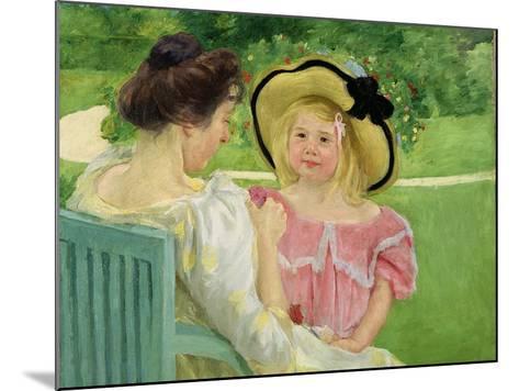 In the Garden, 1903/04-Mary Cassatt-Mounted Giclee Print