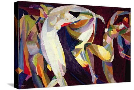 Dances, 1914/15-Arthur Bowen Davies-Stretched Canvas Print