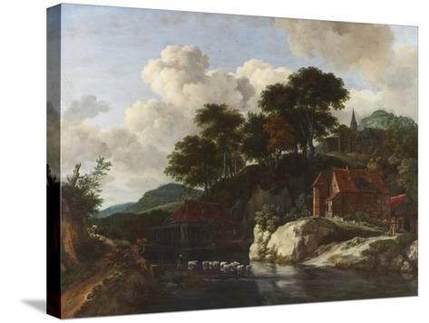 Hilly Landscape with a Watermill, c.1670-Jacob Isaaksz^ Or Isaacksz^ Van Ruisdael-Stretched Canvas Print