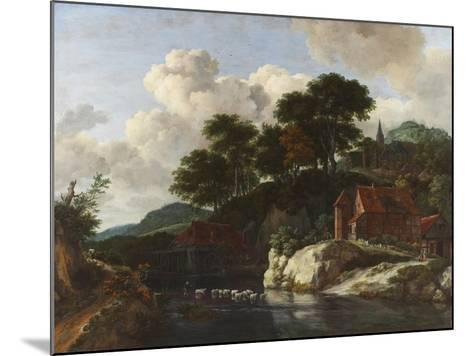 Hilly Landscape with a Watermill, c.1670-Jacob Isaaksz^ Or Isaacksz^ Van Ruisdael-Mounted Giclee Print