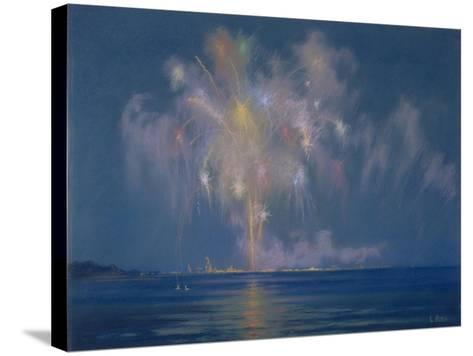 The Grand Finale, Late 19th-Early 20th Century (Pastel on Paper)-Lendall Pitts-Stretched Canvas Print