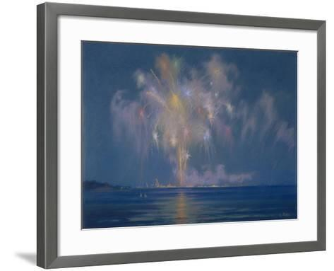 The Grand Finale, Late 19th-Early 20th Century (Pastel on Paper)-Lendall Pitts-Framed Art Print