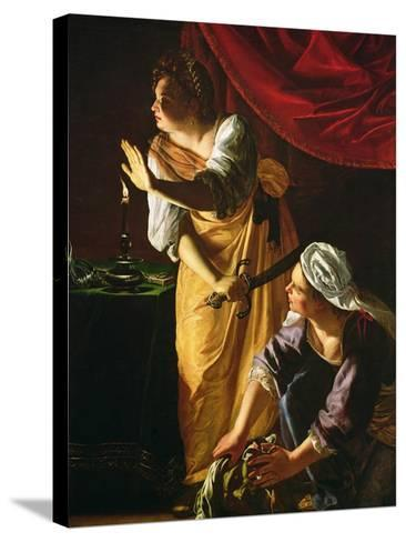 Judith and Maidservant with the Head of Holofernes, c.1625-Artemisia Gentileschi-Stretched Canvas Print