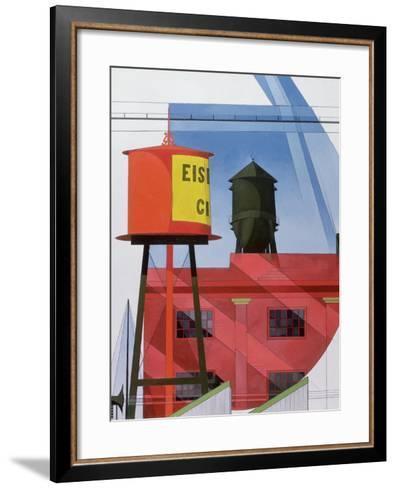 Buildings Abstraction, Lancaster, 1931 (Oil on Board)-Charles Demuth-Framed Art Print