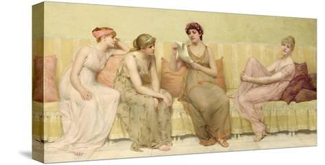 Reading the Story of Oenone, c.1883-Francis Davis Millet-Stretched Canvas Print