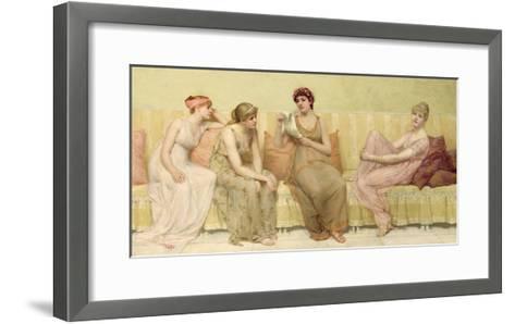 Reading the Story of Oenone, c.1883-Francis Davis Millet-Framed Art Print