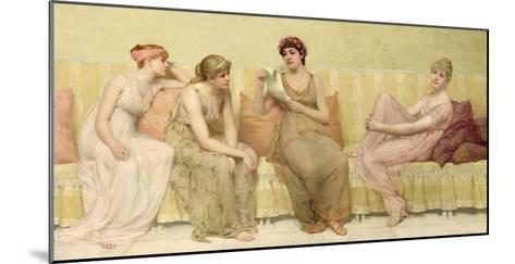 Reading the Story of Oenone, c.1883-Francis Davis Millet-Mounted Giclee Print