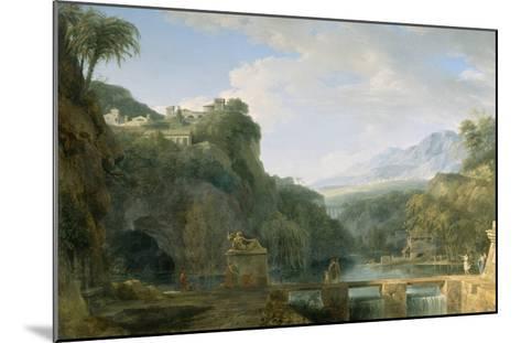 Landscape of Ancient Greece, 1786-Pierre Henri de Valenciennes-Mounted Giclee Print