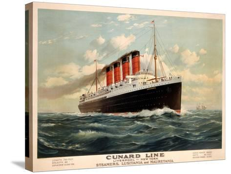 Advertisement for the Cunard Line, C.1908 (Colour Litho)-Fred Pansing-Stretched Canvas Print