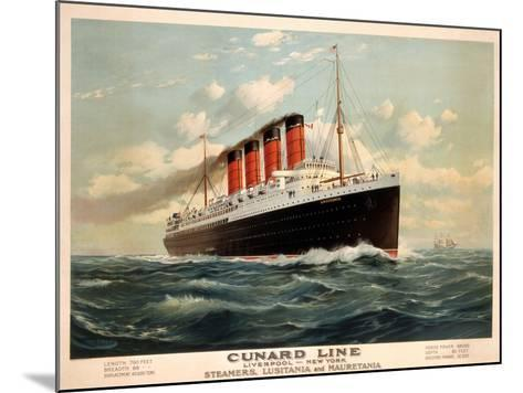 Advertisement for the Cunard Line, C.1908 (Colour Litho)-Fred Pansing-Mounted Giclee Print