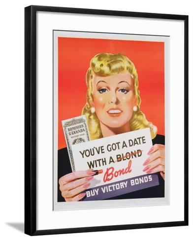 You'Ve Got a Date with a Bond', Poster Advertising Victory Bonds (Colour Litho)- Canadian-Framed Art Print
