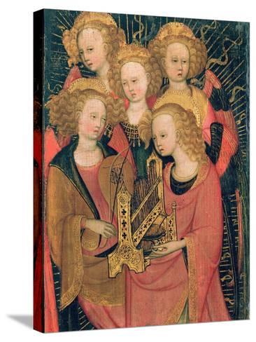 Angel Musicians (Oil on Panel)-Stefano di Giovanni da Verona-Stretched Canvas Print