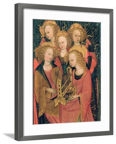 Angel Musicians (Oil on Panel)-Stefano di Giovanni da Verona-Framed Art Print