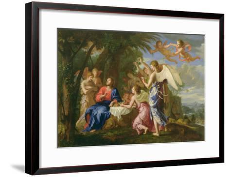 Christ Served by the Angels, c.1650-Jacques Stella-Framed Art Print