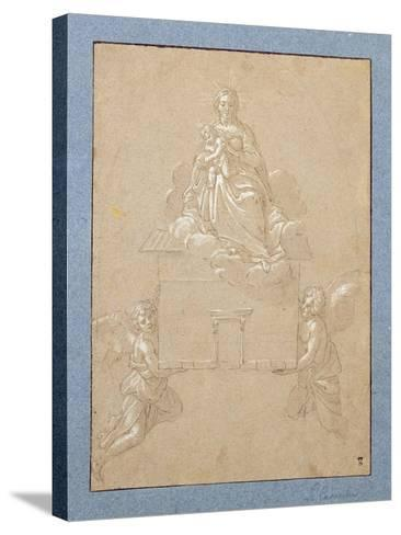 The Madonna of Loreto (Pen and Ink)-Annibale Carracci-Stretched Canvas Print