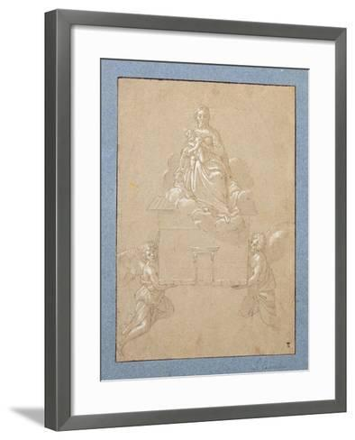 The Madonna of Loreto (Pen and Ink)-Annibale Carracci-Framed Art Print
