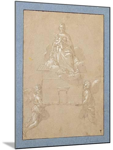 The Madonna of Loreto (Pen and Ink)-Annibale Carracci-Mounted Giclee Print