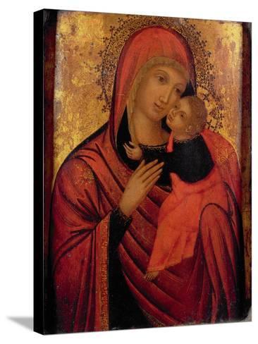 Madonna and Child, C.1650 (Panel)- Veneto-Byzantine-Stretched Canvas Print