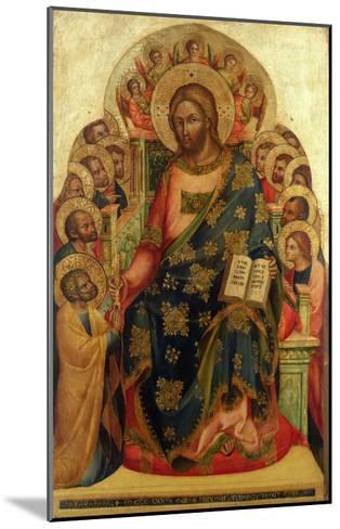 Christ Enthroned with Saints and Angels Handing the Key to St. Peter-Veneziano Lorenzo-Mounted Giclee Print