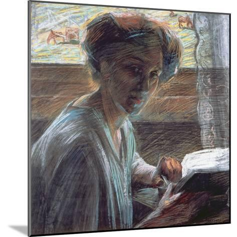 Woman Reading, 1909-Umberto Boccioni-Mounted Giclee Print