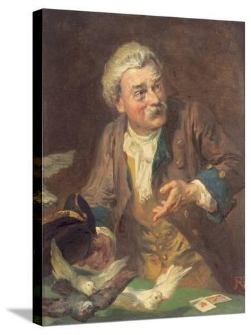 The Conjuror-Robert Alexander Hillingford-Stretched Canvas Print