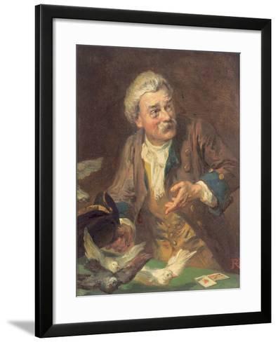 The Conjuror-Robert Alexander Hillingford-Framed Art Print