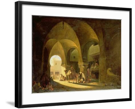 Numerous Figures in a North African Bazaar, 1839-Charles Theodore Frere-Framed Art Print