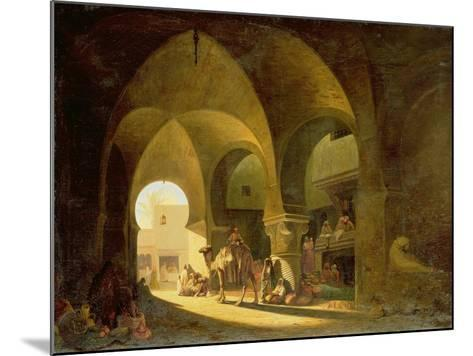 Numerous Figures in a North African Bazaar, 1839-Charles Theodore Frere-Mounted Giclee Print