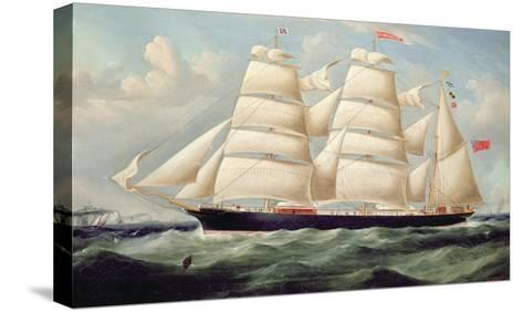 Clipper Barque 'Clendovey'-Richard B^ Spencer-Stretched Canvas Print