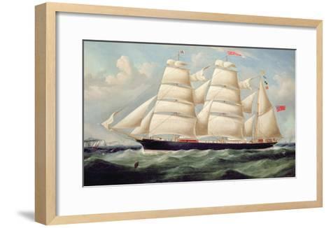 Clipper Barque 'Clendovey'-Richard B^ Spencer-Framed Art Print